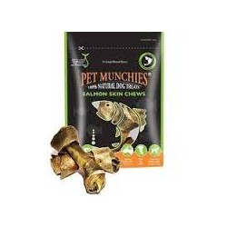 Pet Munchies Salmon Skin Chews Grande 125g ( Pack de 8 )