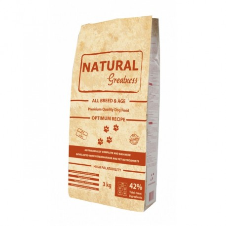 Natural Greatness Receta Optimum 14kg ( sin cereales )
