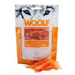 Woolf pollo y marisco snack 100g